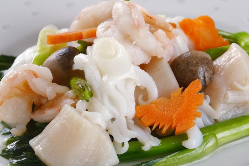 海鮮と野菜